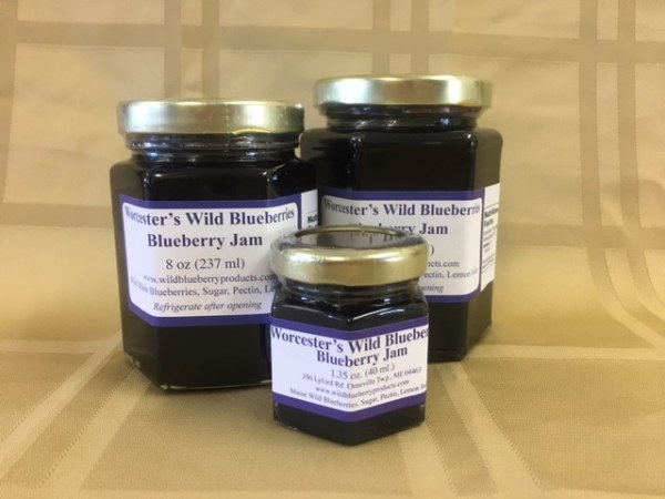 Maine Blueberry Jam - Worcester's Wild Blueberries